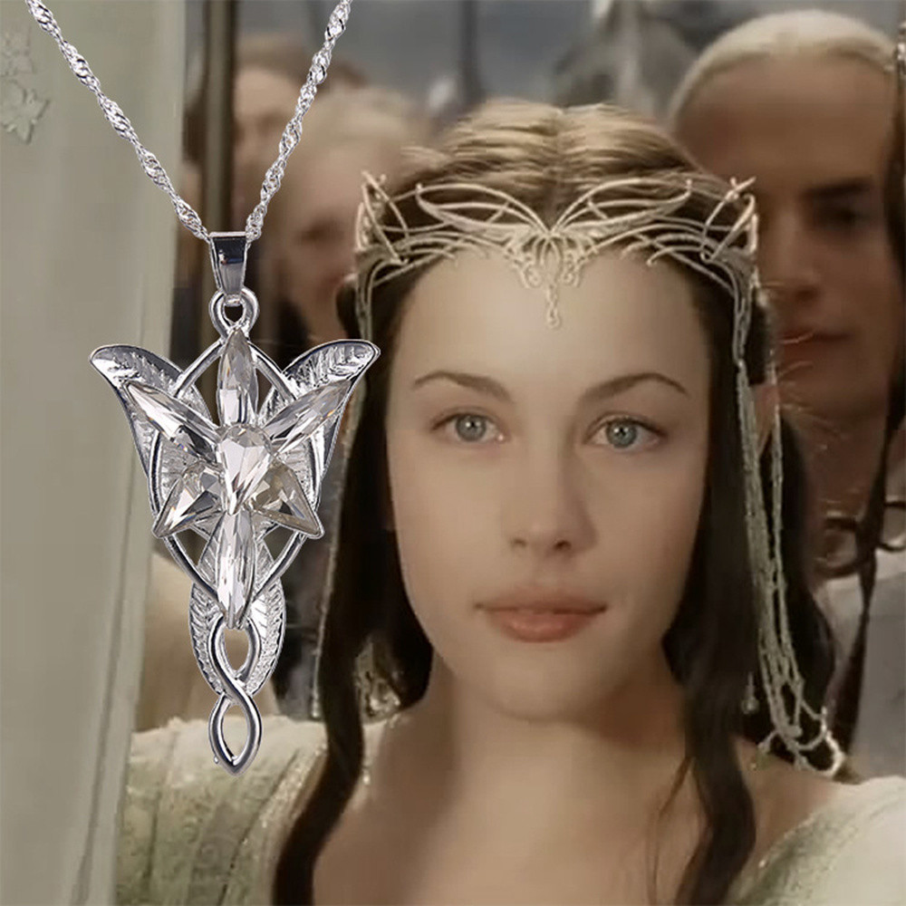 Lord of the rings elf princess evenstar necklace crystal chain lotr lord of the rings elf princess arwen aloadofball Image collections